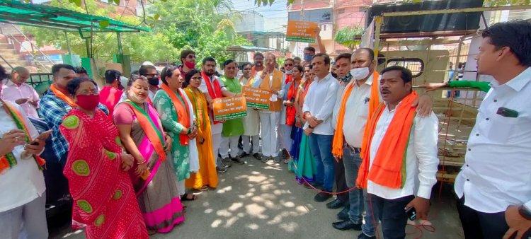 भाजपा ने नगर निगम के जोन कार्यालयों का किया घेराव, विभिन्न मुद्दों के साथ सरकार को घेरा