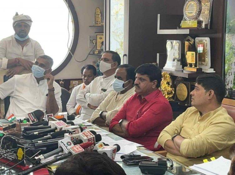 बीजेपी के विरोध प्रदर्शन पर कांग्रेस ने किया पलटवार, अपने अस्तित्व को बचाने के लिये बीजेपी कर रही है  घेराव